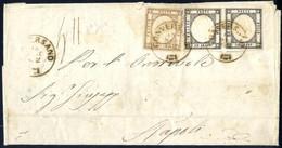 Cover 1862, Lettera Del 18.9.1862 Da Conversano A Napoli, Affrancata Con 1/2 Grana Bistro Bruno (leggermente Toccato In  - Napels