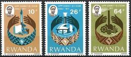Rwanda Ruanda 1977 OCBn° 798-800 *** MNH Cote 2,25 € - 1970-79: Nuevos