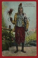 MOZAMBIQUE - UM INDIGENA EM TRAJES DE GUERRA - A NATIVE IN HIS WAR DRESS - 1915 - Mozambique