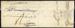 Cover 1698, Lettera In Porto Assegnato Del 5.8.1698 Spedita Da Firenze Per Livorno - Toskana