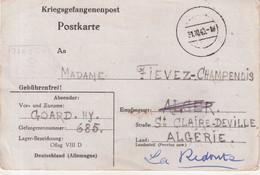 "FRANCE : GUERRE . CP . D'UN PG . INTERNE CIVIL . "" ILAG VIII "" . 1940 . - Guerra Del 1939-45"