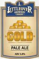 LITTLEOVER BREWERY (DERBY, ENGLAND) - GOLD PALE ALE - PUMP CLIP FRONT - Letreros