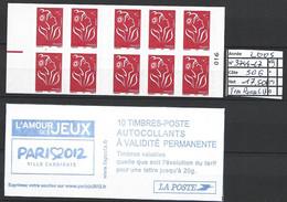 ANNEE 2005 SPLENDIDE LOT DE LUXE CARNET NON PLIER N° 3744-C7 NEUF (**) CÔTE 50.00€  TRES ROUGE B-D-CY&T A SAISIR!!!!!! - Commemoratives