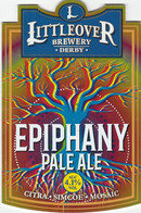 LITTLEOVER BREWERY (DERBY, ENGLAND) - EPIPHANY PALE ALE - PUMP CLIP FRONT - Letreros