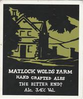 MATLOCK WOLDS FARM ALES (MATLOCK, ENGLAND) - THE BITTER END ? - PUMP CLIP FRONT - Letreros