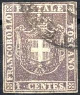 O 1860, Governo Provvisorio, 1 C. Bruno Lilla, Cert. Raybaudi, Sass. 17 B / 1500,- - Toskana