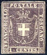 * 1860, Governo Provvisorio 1 Cent. Bruno Lilla, Margini Bianchi Su Tutti I Lati, Nuovo Con Piena Gomma Originale E Legg - Toskana