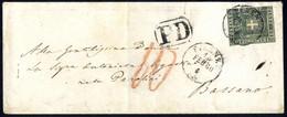 Cover 1860, Governo Provvisorio, Lotto Tre Lettere Per L' Austria Affrancate Fino Al Confine, Da Firenze 27.2.1861 Per V - Toskana