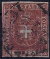 O 1860, Governo Provvisorio, 40 C. Carminio, Ampi Margini, Sass. 21 / 600,- - Toskana