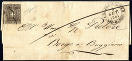 """Cover """"Lastra A Signa"""", Doppio Cerchio Medio Su Lettera Del 9.9.64 Per Borgo A Buggiano Affrancata Con 10 C. Bruno Annul - Toskana"""