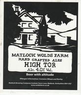 MATLOCK WOLDS FARM ALES (MATLOCK, ENGLAND) - HIGH TOR - PUMP CLIP FRONT - Letreros