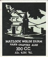 MATLOCK WOLDS FARM ALES (MATLOCK, ENGLAND) - 100 C.C. - PUMP CLIP FRONT - Letreros
