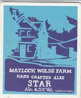 MATLOCK WOLDS FARM ALES (MATLOCK, ENGLAND) - STAR - PUMP CLIP FRONT - Letreros