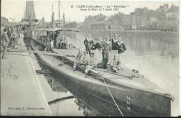 """CAEN - Le """"Pluviôse """" Dans Le Port ( Cachet Militaire) - Caen"""