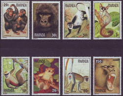 Rwanda Ruanda 1978  OBCn° 859-866 *** MNH  Cote 15 Euro Faune Singes Apen Monkeys - 1970-79: Nuevos