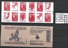 ANNEE 2008 SPLENDIDE LOT DE LUXE CARNET NON PLIER N° 1516 NEUF (**) CÔTE 40.00€,VARIETE ROUGE ESSUIER Y&T A SAISIR!!!!!! - Commemoratives