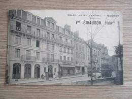 23 GUERET GRAND HOTEL CENTRAL ATTELAGE ANIMEE - Guéret