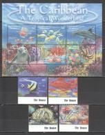 I1100 DOMINICA FAUNA FISH & MARINE LIFE CARIBBEAN TROPICAL WONDERLAND SET+KB MNH - Maritiem Leven