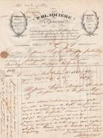 1847 - BEDARIEUX - Carderie, Garance, Pastel Etc. - E. BLAQUIERE - - Documents Historiques