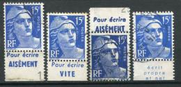 """21714 FRANCE N°886°(260, 267) 15F Marianne De Gandon : """"Bic""""pour écrire Aisément, Vite, Propre Et Net  1951 B/TB - Publicidad"""