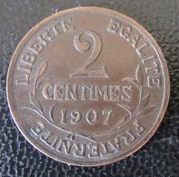 France - 2 Centimes Dupuis 1907 - TTB+ - Rare - B. 2 Centimes