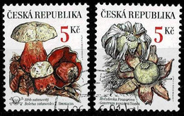 Tschechei 2000,Michel# 260 - 261 O   Protection Of The Nature: Mushrooms - Used Stamps