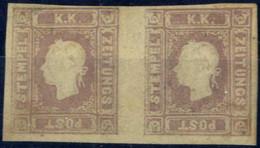 ** 1858, 1,05 Kreuzer Bräunlichlila Im Waagrechten Postfrischem Paar, Voll- Bis Breitrandig, ANK 17 - Sin Clasificación