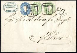 """Cover 1858/61, """"Abgenützte Platten, Lot Drei Briefe, 15 Kr. Type I Auf Brief Von Wien, Signiert Dr. Ferchenbauer VÖB, Zw - Sin Clasificación"""