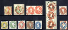 "O 1861, ""Farbstempel"", Satz 1861 Je Mit Rot- Bzw. Blaustempel, Pracht (ANK 18-22), Abbildungen Siehe Onlinekatalog - Sin Clasificación"