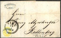 """Cover 1861, """"Firmenstampiglie"""", Lot Drei Briefe, Die Mit Stempel Und Stampiglie Entwertet Wurden, Drucksache Von Wien Na - Sin Clasificación"""