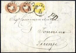 Cover 1861, Brief über Vier Sektionen Von Triest 8.12.1862 Nach Florenz Mit 2 Kr. Gelb Und Paar 10 Kr. Braun Frankiert ( - Sin Clasificación