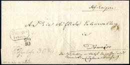 Cover 1861, Inlands-Expressbriefhülle Barfrankiert Von Stift Raygern über Brünn Und Schwarzkirchen Ans Stift Domasov, 8  - Sin Clasificación