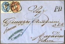 """Cover 1861, Lot Vier Prachtbriefe, 5 + 10 Kr. Von Linz Nach Häselgehr Mit """"3"""" Kr. Botenlohn, 5 Kr. Von Weyer Nach Rotten - Sin Clasificación"""