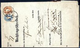 Cover 1862, Nachfrageschreiben über Eine Fahrpostsendung Von 4 Pfund 6 Loth Und Einer Wertangabe Von 8 Gulden Nach Krajo - Sin Clasificación