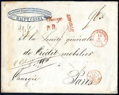Cover 1861, Rekobrief Der 3. Gewichtsstufe Von Wien Nach Paris, Das Porto Von 96 Kreuzer Wurde Oben Rechts Handschriftli - Sin Clasificación