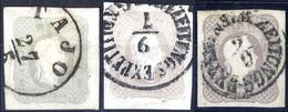 O/piece 1861, (1,05) Kr., Drei Stück In Verschiedenen Farbnuancen In Prachterhaltung, Alle Signiert (ANK 23) - Sin Clasificación