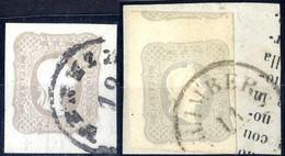 O/piece 1861, (1,05) Kr., Zwei Stück In Lombardei - Venetien Gebraucht, Beide Signiert (ANK 23) - Sin Clasificación
