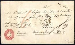 Cover 1860/64, Zwei 5 Kreuzer Ganzachenumschläge Der Ausgaben 1860 Und 1863 Als Kuverts Für Wertbriefe Verwendet, Wobei  - Sin Clasificación