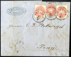 Cover 1863, Faltbriefhülle Mit Zwei Stück 5 Kreuzer Marken Und Einem Oval Geschnittenen 5 Kreuzer Ganzsachenausschnitt V - Sin Clasificación