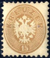 ** 1863/64, Postfrisch 15 Kr Hellbraun, Freimarke Doppeladler In Weiter Zähnung KS 9½, Sehr Gut Zentriertes, Farbfrische - Sin Clasificación