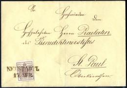 Cover 1864, 2 Kreuzer Drucksache Von Pilsen 6.9. Nach Auscha Auf Gelbem Briefpapier, Pracht, ANK 30 - Sin Clasificación