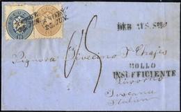 Cover 1865/66, Zwei Interessante Taxbriefe Mit Diversen Neben- Und Taxstempeln Aus Krakau Bzw. Brody In Die Toskana, Gut - Sin Clasificación