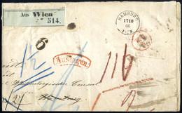 Cover 1866, Paketbegleitbrief Mit 5 Kr. Urkundenstempelmarke Ab Wien Am 12.10. über Berlin, Hamburg Nach Lübeck, An Eini - Sin Clasificación