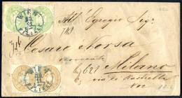 Cover 1866, Rekobrief Aus Wien Vom 26.11. Mit Je Zwei Stück 3 Und 10 Kreuzer Nach Mailand, Entwertet Mit Dem Blaustempel - Sin Clasificación