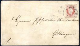Cover 1871, Aufbrauchsausgabe Ganzsachen-Umschlag 3 Kr 1863 Mit 5 Kr 1867 überklebt Und Von Wien, 13.8.1871, Nach Göttin - Sin Clasificación