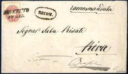 Cover 1863/64, Wertstufen- Und Farbengleiche Misch-Frankatur Von Rovereto Nach Riva Und Von Dort Wieder Zurückgeschickt, - Sin Clasificación