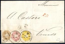 Cover 1863/64, Dreifarben-Frankatur Von Wien Nach Venedig, Frankiert Mit 2 Kr., 5 Kr. Und 15 Kr., Der Brief Ist Um 1 Kre - Sin Clasificación