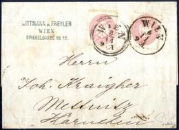 """Cover 1863/64, Faltbriefhülle Mit Zwei 5 Kreuzer Marken, Wobei Es Sich Um Einen Sogenannten """"auffrankiertem"""" Brief Der 2 - Sin Clasificación"""