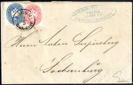 Cover 1863/64, Lot Mit Einem Viererblock 15 Kreuzer (mit Großem WZ) Auf Briefstück, Ein 5 Kreuzer Umschlag Mit Wertgleic - Sin Clasificación