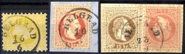 """O/piece 1867, """"Belgrad"""", Drei Stück Mit Einkreisstempel Von Belgrad, Dabei 2 Kr., 5 Kr. Auf Briefstück Und 5 + 15 Kr. Au - Sin Clasificación"""